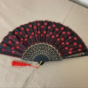Accessories - New Red and Black folding Fan